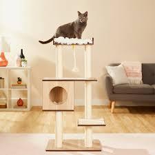 Modern Design Cat Furniture Frisco 47 5 In Modern Cat Tree Natural