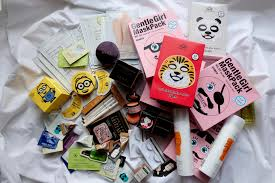 beauty haul review korean cosmetics and face masks