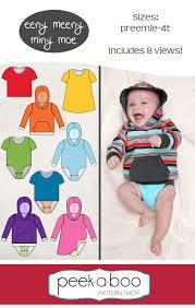 Peek A Boo Patterns Beauteous Eeny Meeny Miny Moe Bodysuit PeekaBoo Pattern Shop