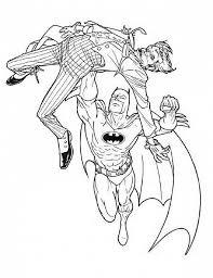 Batman Colpisce Joker Disegni Da Colorare