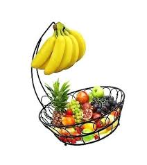 bowls fruit bowl with banana hanger wire storage basket size total height inch diameter x