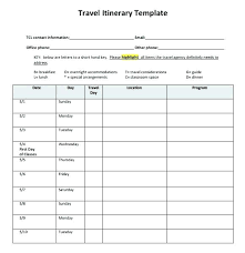 Road Trip Template International Travel Itinerary Template Naveshop Co