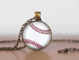 baseball pendant necklace baseball player gift sports gift for her baseball fan gift