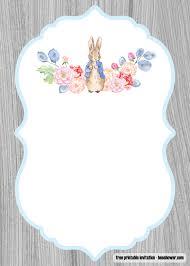 Free Peter Rabbit Baby Shower Invitations Templates Free