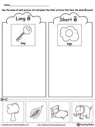 We created numerous long e worksheets to assist a child in learning the various ways the long e sound can be spelled. Short And Long Vowel E Picture Sorting Vowel Worksheets Short Vowel Worksheets Long Vowel Worksheets
