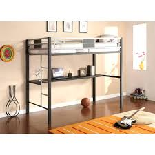 Loft Beds: Twin Size Loft Bed Frame Silver Screen Metal Black Bunk Beds Ikea  Tromso
