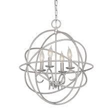 chandelier globes kichler vivian in light brushed nickel globe