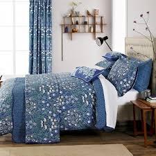 v a columbine periwinkle blue duvet cover set