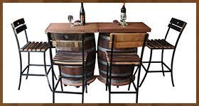 wood barrel furniture. Solid Wood Wine Barrel Bar Furniture