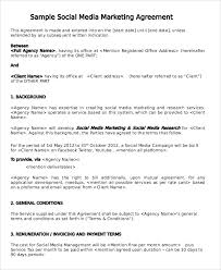 Example Of An Agreement Marketing Consultant Contract Template Inspirational Sample