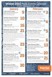 Winter Term Music Events Calendar College Of Liberal Arts