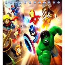 Marvel Superhero Bedroom Marvel Superhero Shower Curtain