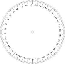 printable protractor. pix for printable protractor 360 degrees