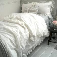 linen duvet set ruffle duvet cover linen ruffle duvet cover a cottage in the city white