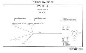 carolina skiff factory 12 24v trolling motor plug w trim 24v trolling motor plug and receptacle at Marinco Trolling Motor Plug Wiring Diagram