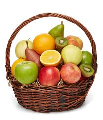 fruit basket.  Fruit Deluxe Fruit Basket With C