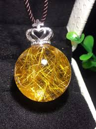 whole natural gold rutilated quartz crystal titanium pendant sphere ball 24mm women man necklace pendant jewelry aaaaa certificate necklace charm