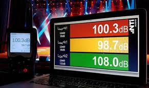 Decibel Meter With Warning Light Live Event Sound Level Monitoring I Nti Audio