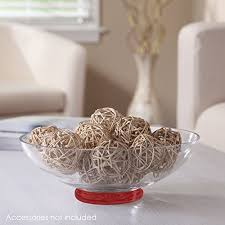 Decorative Balls For Bowls Diy Classy Hosley's Clear Glass Bowl with Red Bottom 3232 Diameter Ideal for