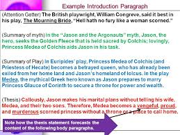 medea thesis paper english use class discussion to help you  6 example introduction