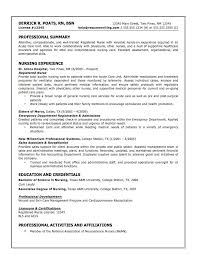 Sample Resume For Nursing Assistant