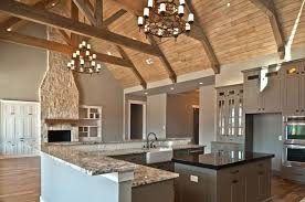 open concept vaulted ceiling house plans wonderful love this kitchen family room bo d i might add