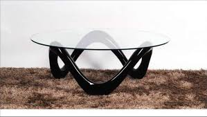 black and glass round coffee tables