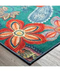 watercolor area rug. Grey Teal And Orange Rug Floral Blue Rugs Watercolor Area Burnt Unique Scroll Red Contemporary Carpet