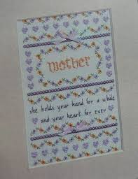 Mother Day Chart Mother Sampler Cross Stitch Chart