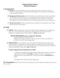 argumentative essay writing sample of argumentative essay writing  image result for outline of argumentative essay sample