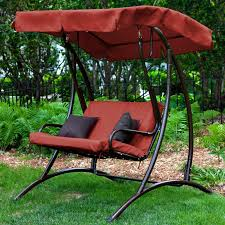 seat cushions for outdoor metal chairs. furniture patio swing with canopy red comfortable soft seat cushion and padded backrest 6 person wooden cushions for outdoor metal chairs