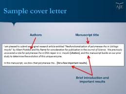 cover letters for manuscripts writing a cover letter for your scientific manuscript