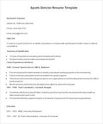 Gallery Of Sports Management Resume Samples Best Resume For You