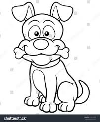 vector ilration of cartoon dog coloring book