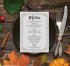 Free Printable Thanksgiving Menu Mountainmodernlife Com
