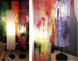 turn a regular holmÖ paper floor lamp into an original design with this step by step diy blog post