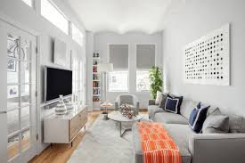 apartment living room design ideas. Captivating Apartment Living Room Design 6 Decor Bright White Gray The Spruce . Bedroom Delightful 2 Sofa Ideas