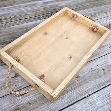 simple tray with rope handles