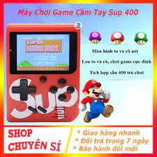 Máy chơi game 4 nút cầm tay sup game box 400 in 1 plus, máy chơi game cầm  tay chính hãng 59,000đ