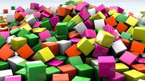 wallpaper 1366x768 cubes, 3d, art ...