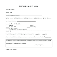 Paid Time Off Form Template Paid Time Off Template Listoflinks Co