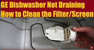 How To Clean A Dishwasher Drain Ge Dishwasher Not Draining How To Fix Diy Youtube
