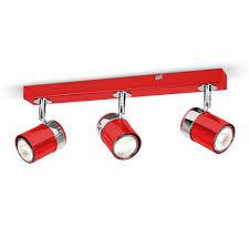 Kitchen Ceiling Light Fittings Modern Gloss Red Amp Silver Chrome 3 Way Kitchen Ceiling Light
