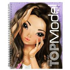 top model make up coloring book