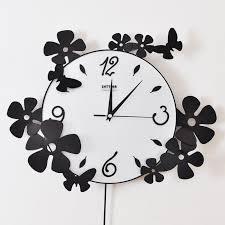 wall clock art flower