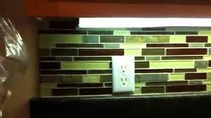 how totile backsplash in glass subway tile from home depot by tilinginfo