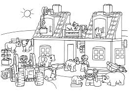 Lego Farm Coloring Page For Kids