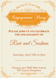 Format Invitation Card Indian Engagement Invitation Card With Wordings Check It Out