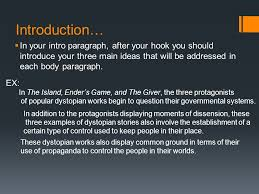 dystopian synthesis essay ppt video online  4 introduction