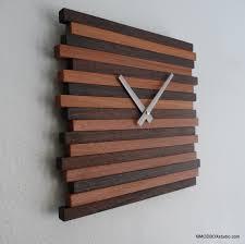 wooden wall art clock wall hanging reclaimed wood modern decor contemporary